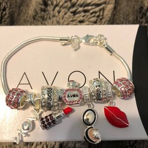 "Avon charm bracelet 7"""